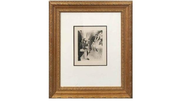 Edgar Degas, 'Seated Men and Dancer', 1880-1883, Print, Etching, Leviton Fine Art