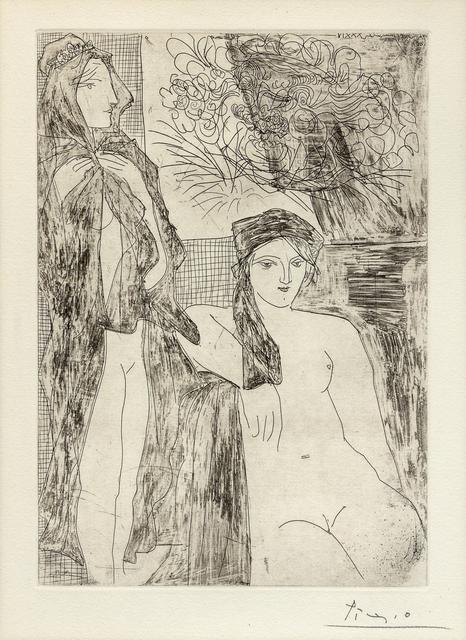 Pablo Picasso, 'Rembrandt et Deux Femmes, Plate 35 from La Suite Vollard', 1934, Print, Etching, Hindman