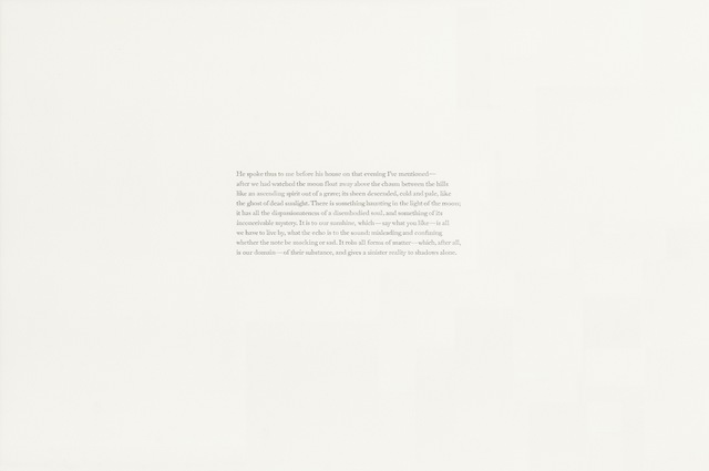 , 'Joseph Conrad, Lord Jim (ch. 24),' 2018, Gallery Joe