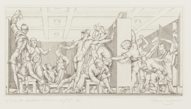 , 'Y.M.C.A. Locker Room,' 1934, Childs Gallery