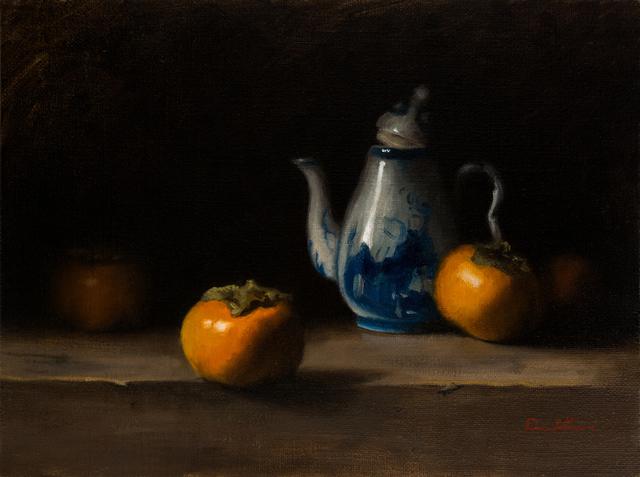 , 'Persimmons & Tea Pot,' 2015, Zemack Contemporary Art