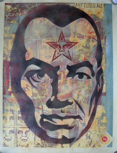 Shepard Fairey, 'Big Brother (Stencil Collage On Paper)', 2003, Prescription Art