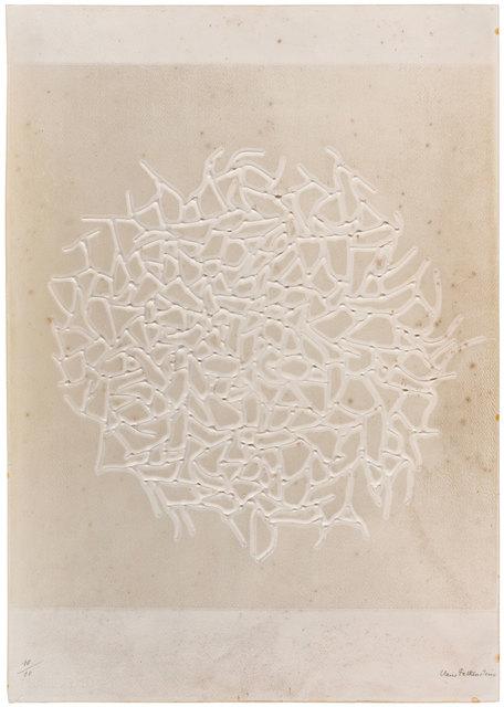 Claire Falkenstein, 'Schermo infinito', 1970s, Print, Embossed and cut Fabriano paper, ArtRite