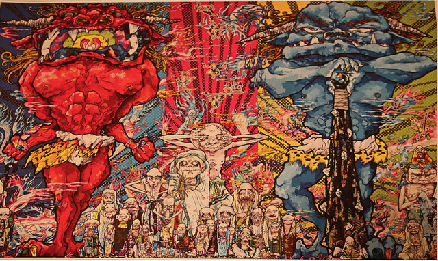 , 'Red & Blue Demon with 48 Arhats,' 2013, MSP Modern