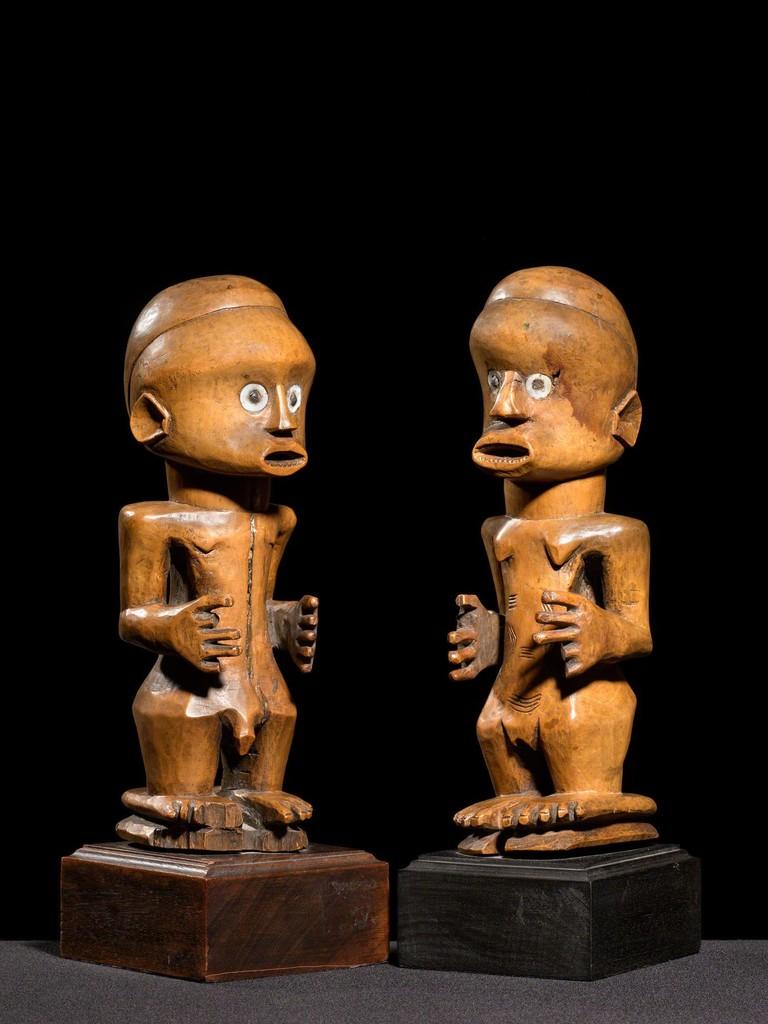 """Nsapo-Nsapo"" Male and Female figure"