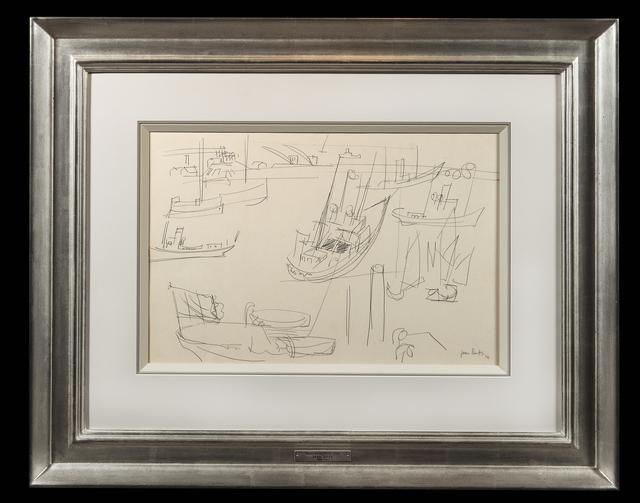 , 'Bateaux au port,' 1924, Trinity House Paintings