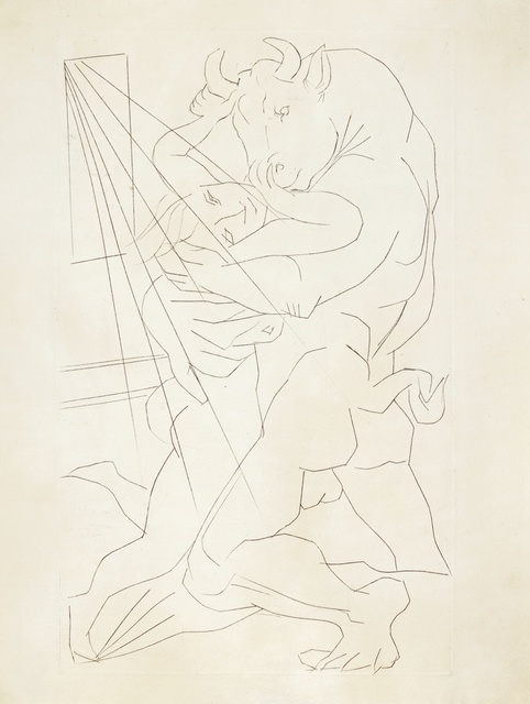 Pablo Picasso, 'Minotaure embrassant une Femme (B. 283; Ba. 431)', Print, Engraving, Sotheby's