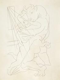 Minotaure embrassant une Femme (B. 283; Ba. 431)