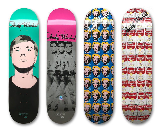 Andy Warhol, 'Set of 4 Skateboard Decks', ca. 2011, MLTPL