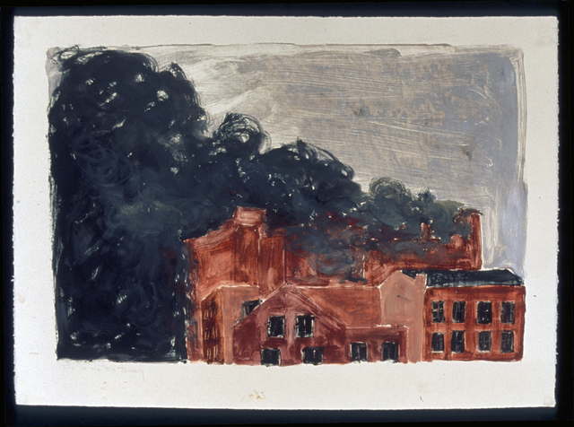 , 'Fire at the Old Tannery,' 1991, InLiquid