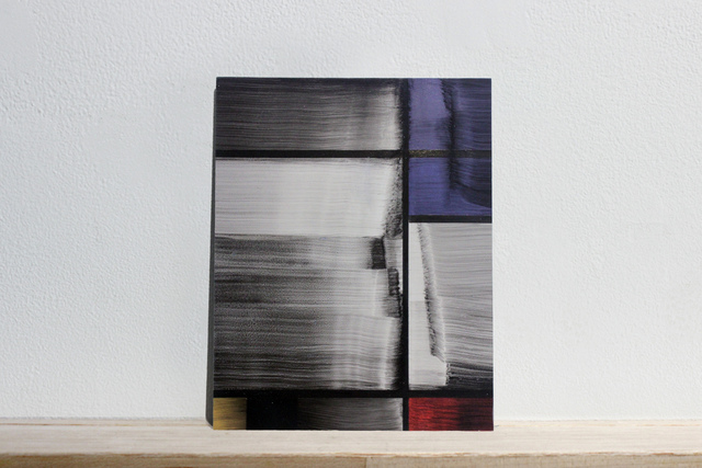 ", 'Postcards to AZ: ""Farbige Aufteilung (1928)"", Piet Mondrian. Location unknown, num 3,' 2017, Josée Bienvenu"