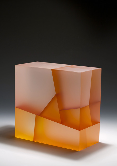 , 'White-orange Cuboid biaxial segmentation,' 2014, Duane Reed Gallery