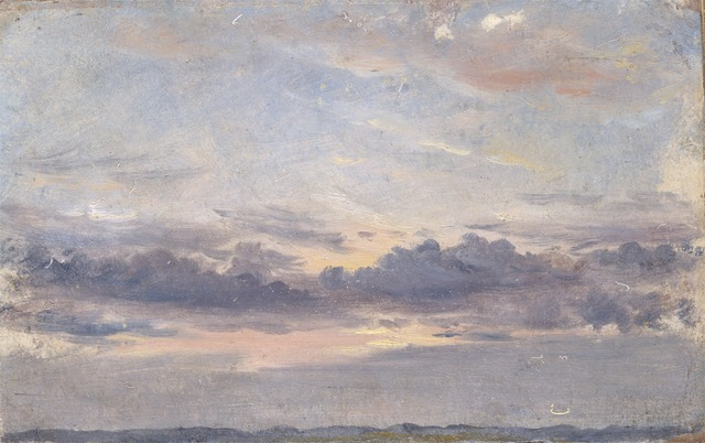 John Constable, 'A Cloud Study, Sunset', ca. 1821, Yale Center for British Art