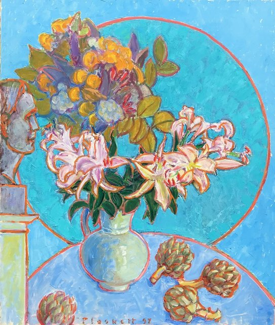 , 'Artichoke, Lilies, Bouquet & Bust of Artist,' , Bau-Xi Gallery