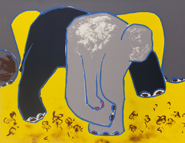 , 'Elephant In Violets,' 1987, Tamarind Institute