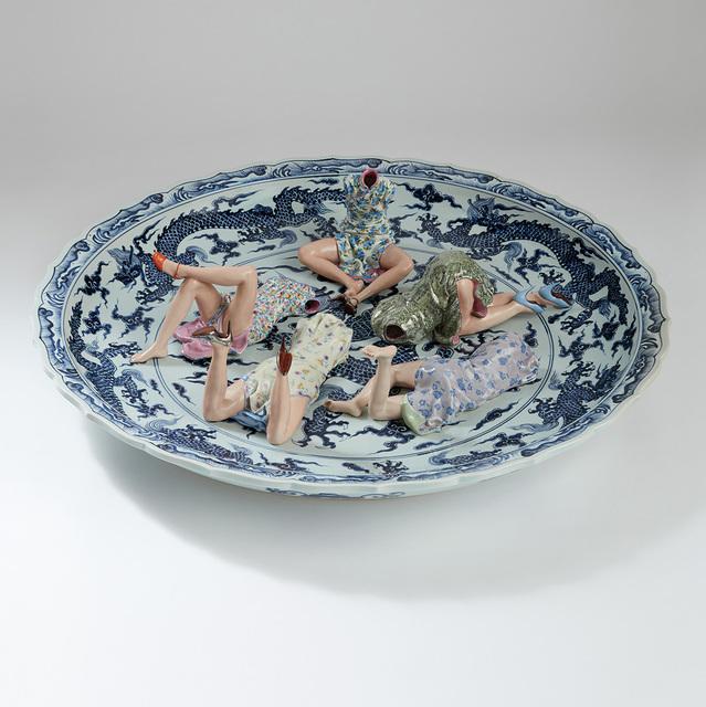 Liu Jianhua 刘建华, 'Games', 2001-2006, Design/Decorative Art, Polychrome ceramic, in 6 parts, Phillips