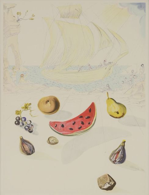 Salvador Dalí, 'Ship and Fruits', 1986, Sworders