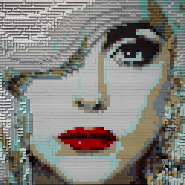 Andre Veloux, 'Gaga', 2015, Painting, Lego on cradled wood board, Parlor Gallery