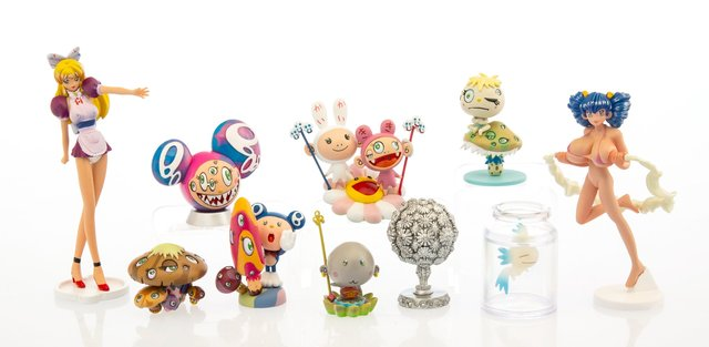 Takashi Murakami, 'Superflat Museum, set of 10', 2005, Sculpture, PVC figures, Heritage Auctions