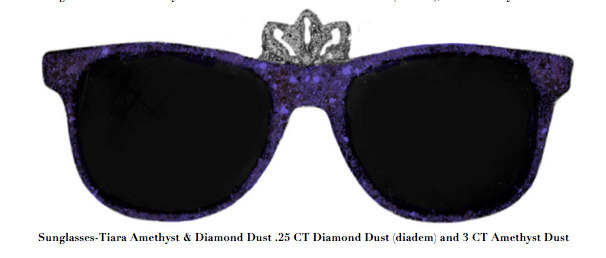 , 'Sunglasses-Tiara Amethyst & Diamond Dust .25 CT Diamond Dust (diadem) and 3 CT Amethyst Dust,' , ART CAPSUL
