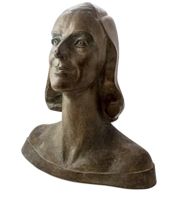 Ferruccio Vecchi, 'Portrait of Delia di Bagno', 1940, Sculpture, Brown glazed bronze, Finarte