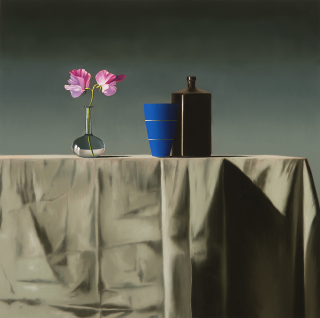 , 'Still Life with Sweet Peas and Two Vessels,' 2017, Leslie Sacks Gallery