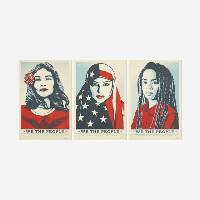 Shepard Fairey (OBEY), 'We the People (three works)', 2017, Rago/Wright