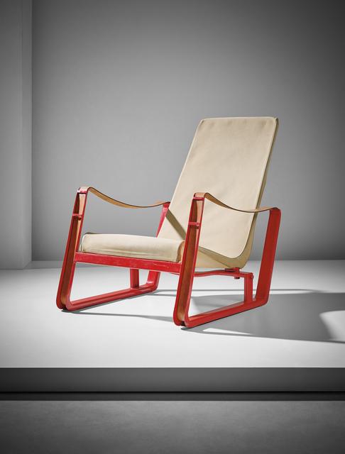 Jean Prouvé, 'Important 'Cité' armchair, from Jean Prouvé's private collection', ca. 1930, Phillips