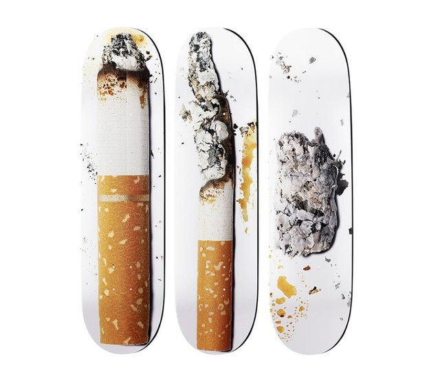 Urs Fischer, 'Cigarette (set of 3)', 2016, Other, Triptych, screenprint on skateboards, DIGARD AUCTION