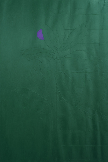 , 'Green Plants and Violet Flower No. 4,' 2019, Rubber Factory