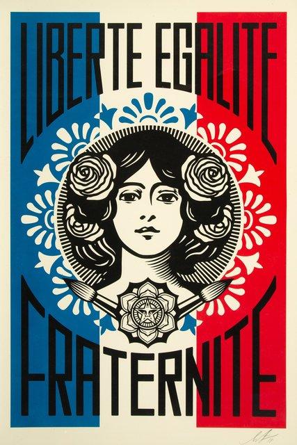 Shepard Fairey, 'Liberte, Egalite, Fraternite', 2018, Heritage Auctions