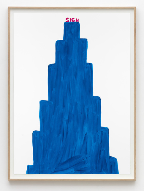 , 'Untitled (Sign blue),' 2015, Galleri Nicolai Wallner
