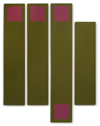 Doug Ohlson, 'Benn', 1969, Painting, Acrylic on canvas (four panels), Washburn Gallery