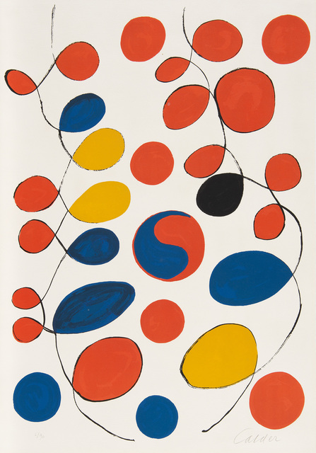 Alexander Calder, 'Loops and Yin Yang', 1969, Print, Lithograph in colors, on Arches paper the full sheet., Phillips