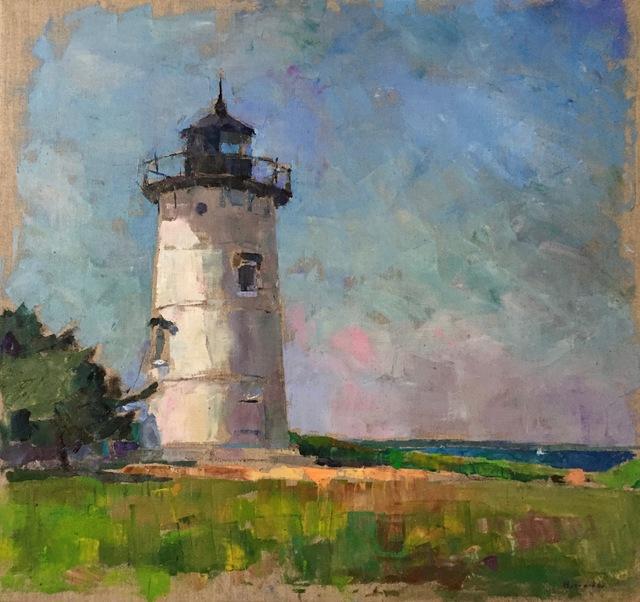 "Larry Horowitz, '""East Chop Light"" oil painting of Martha's Vineyard White Lighthouse', 2019, Eisenhauer Gallery"