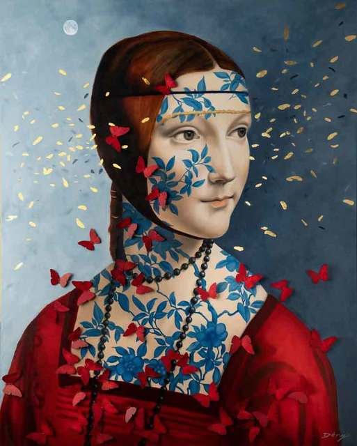 Serge Déry, 'Lady Cecilia with butterflies', 2019, Galerie Blanche