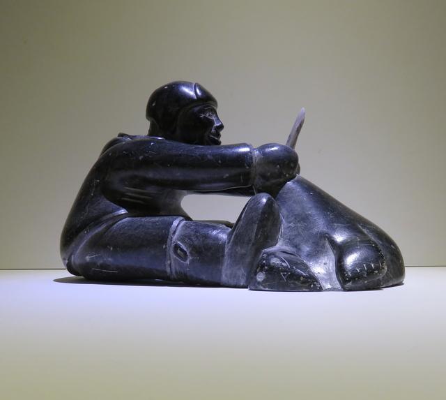 , 'Hunter with walrus, bone tusks,' ca. 1960, Arctic Experience McNaught Gallery