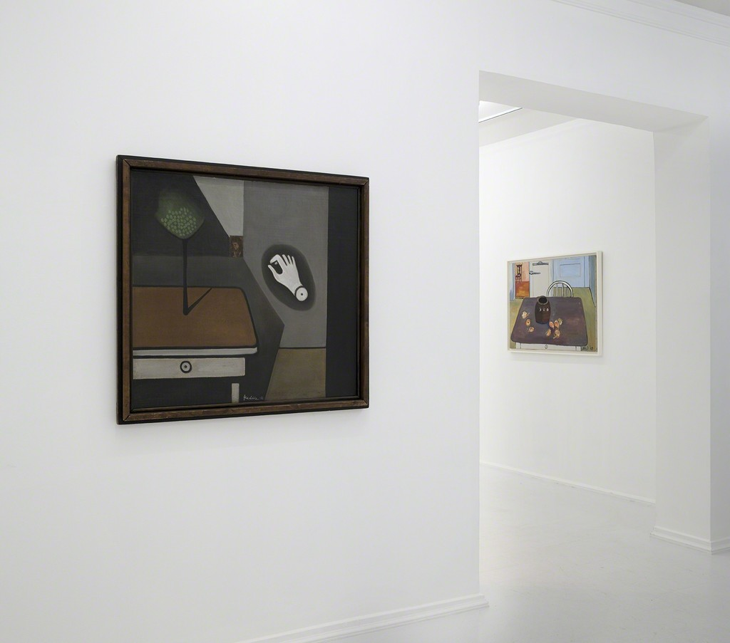 Wilhelm Freddie, 1932 and Alice Neel, 1969, Installation view, Absence (Looking for Hammershøi)