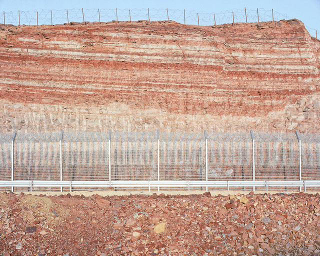 , 'Roadcut, Red Mountains (Egypt Border),' 2013, PHOTO IS:RAEL