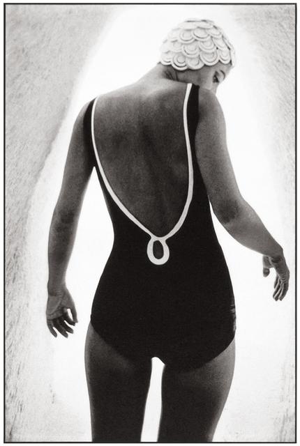 Frank Horvat, 'Djerba, Tunisia, for British Harper's Bazaar, bathing suit B', 1965, Photography, Platinum  print on Aquarell paper, °CLAIRbyKahn Galerie