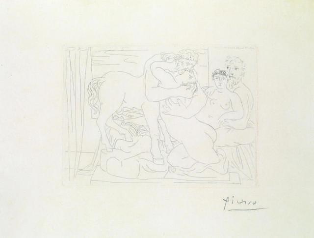 Pablo Picasso, 'Le Repos Du Sculpteur Devant Un Centaure Et Une Femme. 1933', Itineris