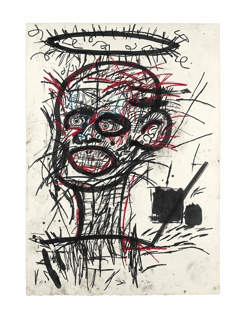 Jean-Michel Basquiat, 'Untitled', 1982, Oil stick and ink on paper, Christie's