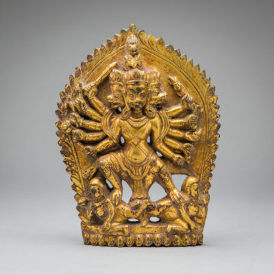 Unknown Asian, 'Gilded bronze high-relief of the goddess Kali', 1800-1900, Barakat Gallery