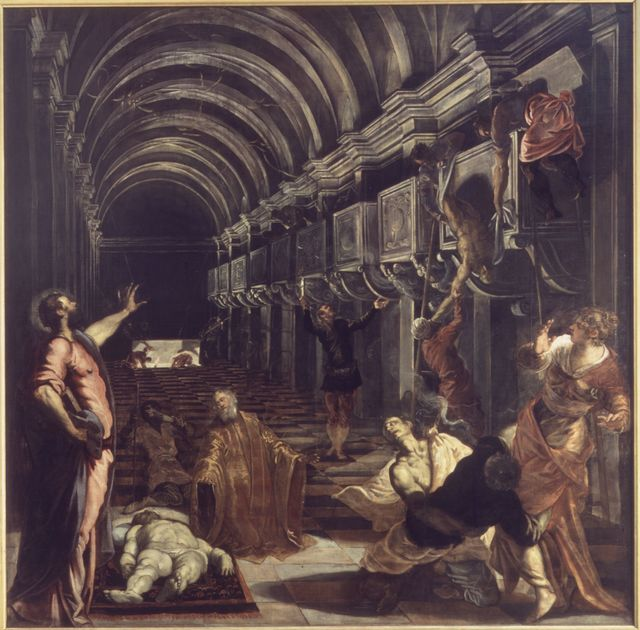 Jacopo Tintoretto, 'Miracle of St. Mark: The Discovery of the Saint's Body', 1562-1566, Pinacoteca di Brera