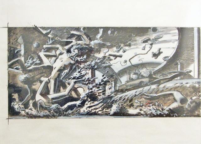 , 'Big Car Crash,' 2011, Jonathan LeVine Projects