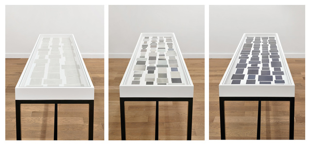 Ignasi Aballí, 'Le noir dans le journal, Le gris dans le journal, Le blanc dans le journal', 2014, Galerie Thomas Bernard