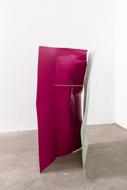 , 'Blassgrün/Rotlila/Rotlila (Flyer 3-teilig),' 2016-2018, Galerie Elisabeth & Klaus Thoman