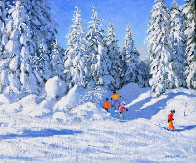 , 'Bright Morning and Snow-Covered Trees, Morzine,' , Jonathan Cooper