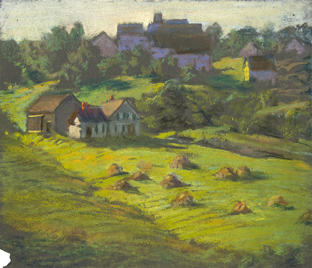 , 'GREEN FIELDS WITH HAYSTACKS,' , Jerald Melberg Gallery