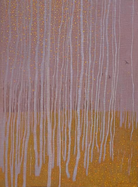 David Grossmann, 'October Flights', 2019, Painting, Oil on board, Gallery 1261